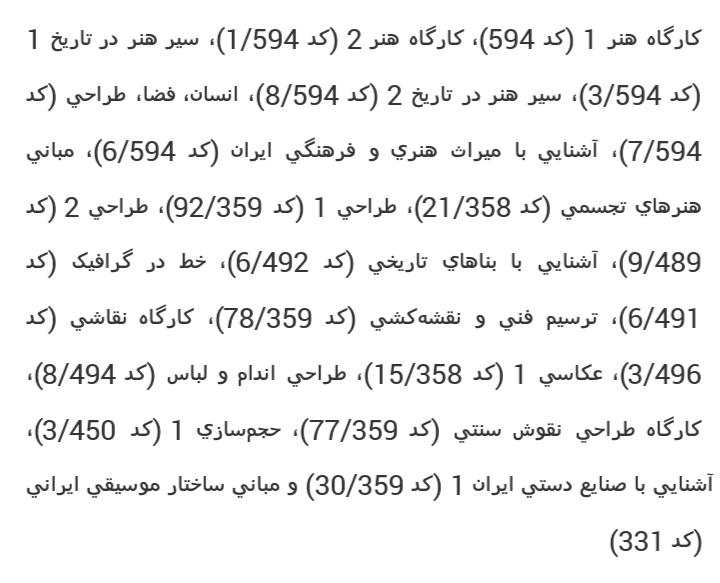 کامل ترین منابع کنکور هنر 1399 - کتاب های کنکور هنر 99 نظام جدید