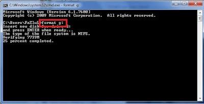 فرمت فلش USB با استفاده از CMD بدون امکان ریکاوری