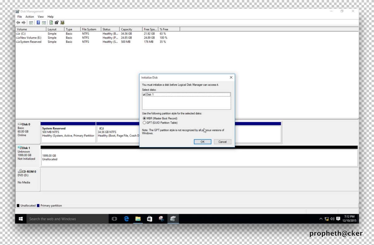 افزایش فضای ذخیره سازی هارد دیسک تا 2 ترابایت در ویندوز 10 بدون هیچ برنامه ای