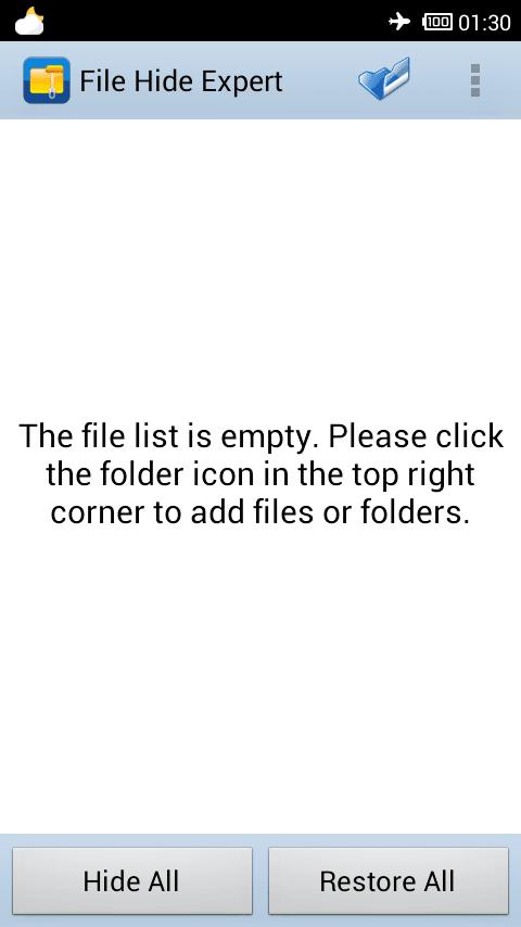 مخفی کردن فایل ، عکس و برنامه در اندروید با برنامه File Hide Expert به صورت رایگان