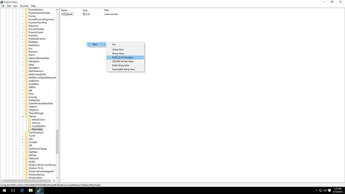 نحوه فعالسازی Dark Theme در ویندوز 10