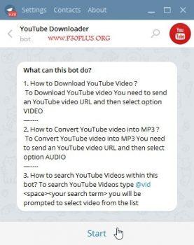 ربات دانلود از یوتیوب