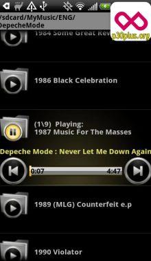 موزیک پلیر - پخش پوشه ای