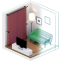 طراحی نقشه خانه 5 بعدی - planner-5d-home-interior-design