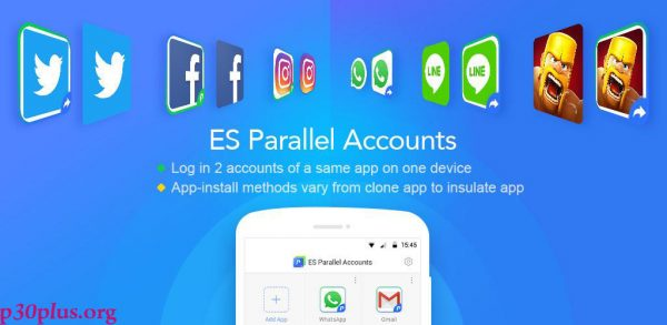 ES Parallel Accounts-این برنامه