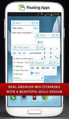 Floating Apps اجرای برنامه ها به صورت شناور