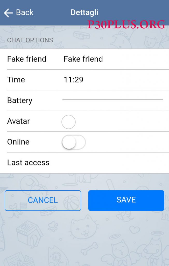 چت جعلی -fake chat
