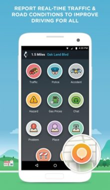 Waze : GPS , Maps & Traffic - اپ مسیر یاب و گزارش جاده ای