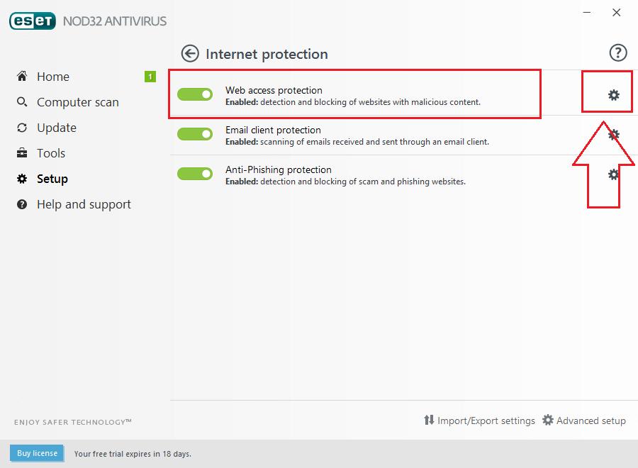 آموزش رفع بلاک و مسدود سازی سایت ها توسط آنتی ویروس نود 32 - NOD 32