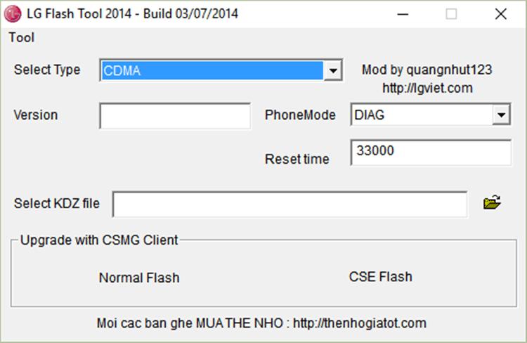 LG Up - LG Flash Tool - فلش گوشی های LG ال جی - LG FlashTool