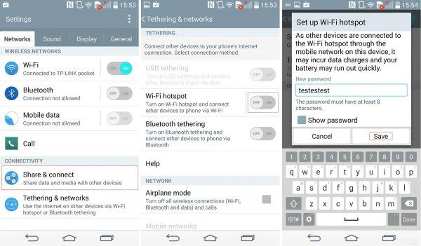 آموزش اشتراک گذاری اینترنت گوشی اندروید با هات اسپات - راه اندازی hotspot در اندروید