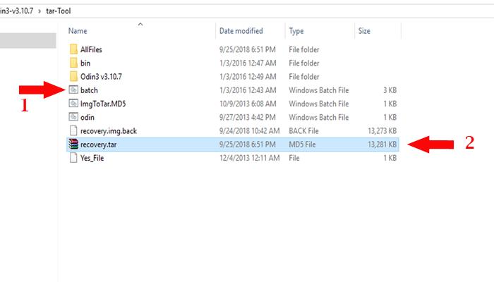 آموزش تبدیل فایل ایمیج img به tar یا md5 قابل فلش با Odin + دانلود برنامه tar tool