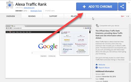 Alexa Traffic Rank - تولبار الکسا
