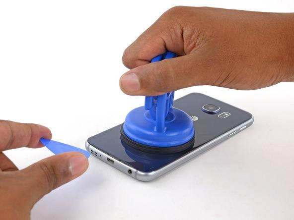 تعویض باتری گوشی اس 6 اج سامسونگ - نحوه باز کردن گوشی S6 EDGE