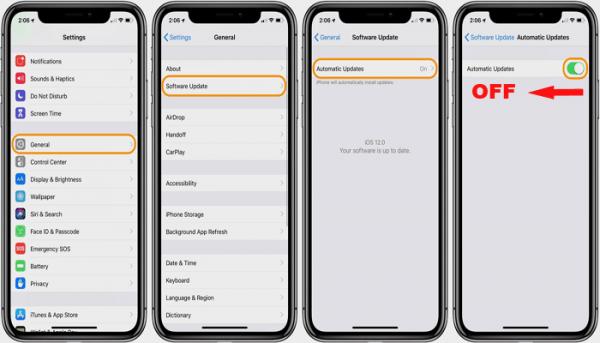 آموزش غیرفعال کردن آپدیت خودکار آی او اس iOS و برنامه ها در گوشی های آیفون