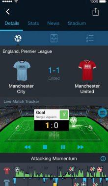 نمایش نتایج فوتبال -365Scores