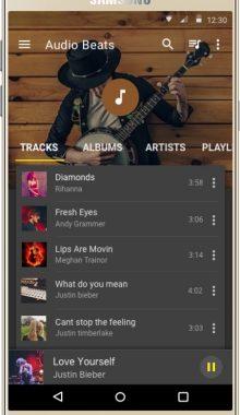 موزیک پلیر گرافیکی -Audio Beats
