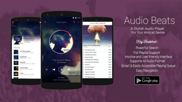 Audio Beats - موزیک پلیر قدرتمند - اودیو بیتس - پلیر گرافیکی پخش آهنگ