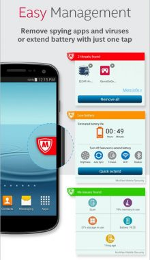 بهترین آنتی ویروس اندروید -McAfee Mobile Security & Lock