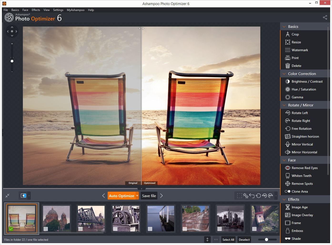 دانلود بهترین نرم افزار ویرایشگر تصاویر ویندوز - Ashampoo Photo Optimizer v7.0.3.4
