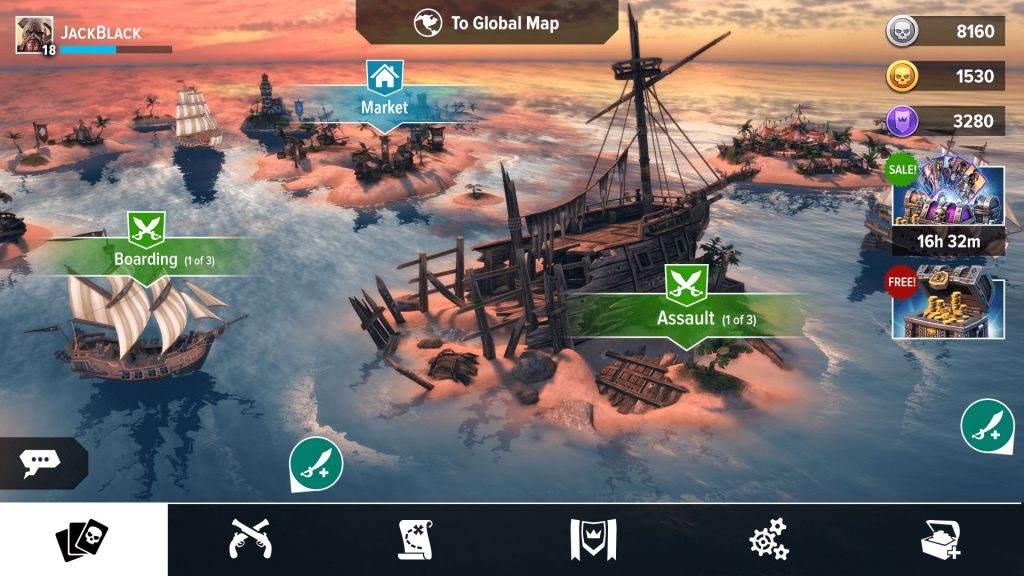 دانلود بازی دزدان دریایی برای اندروید -  Pirate Tales : Battle for Treasure v2.01 + مود
