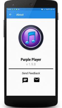 موزیک پلیر بصری و حرفه ای اندروید -Purple Player Pro