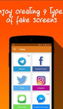 اپلیکیشن Yazzy یزی فیک ساخت چت جعلی
