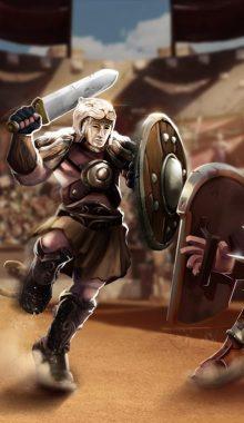 Gladiator Heroes Clash : Fighting and Strategy Game دانلود بازی نبرد گلادیاتور های قهرمان