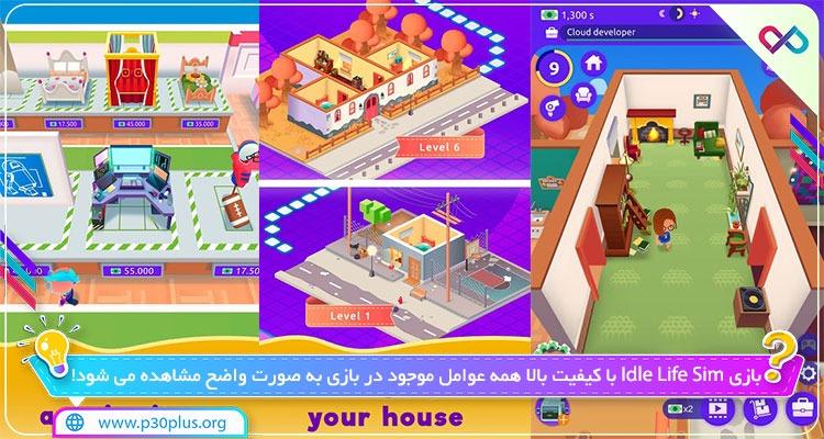بازی Idle Life Sim 1.3.1 دانلود بازی ایدل لایف سیم اندروید + مود