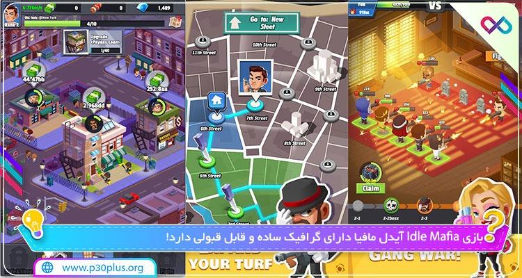 بازی Idle Mafia 3.2.1 دانلود بازی مافیای خودکار برای اندروید + مود