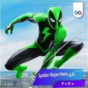 دانلود بازی Spider Rope Hero: Ninja Gangster Crime Vegas City اسپایدر روپ هیرو