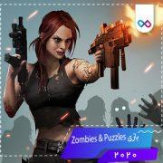 بازی Zombies & Puzzles زامبی ها و پازل ها
