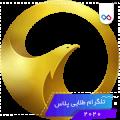 تصویر لوگوی تلگرام طلایی پلاس